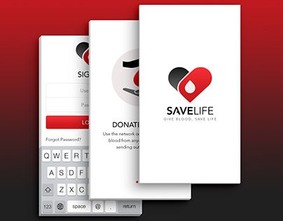 """Check out new work on my @Behance portfolio: """"Mobile UI - Save Life (Blood Donation App)"""" http://be.net/gallery/32077735/Mobile-UI-Save-Life-(Blood-Donation-App)"""