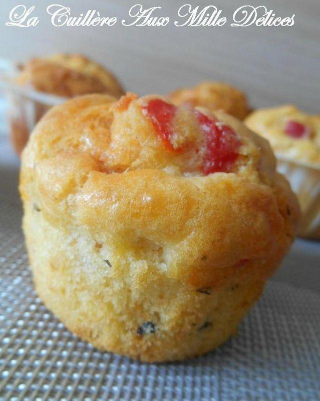 Cakes chorizo, poivron rouge & comté