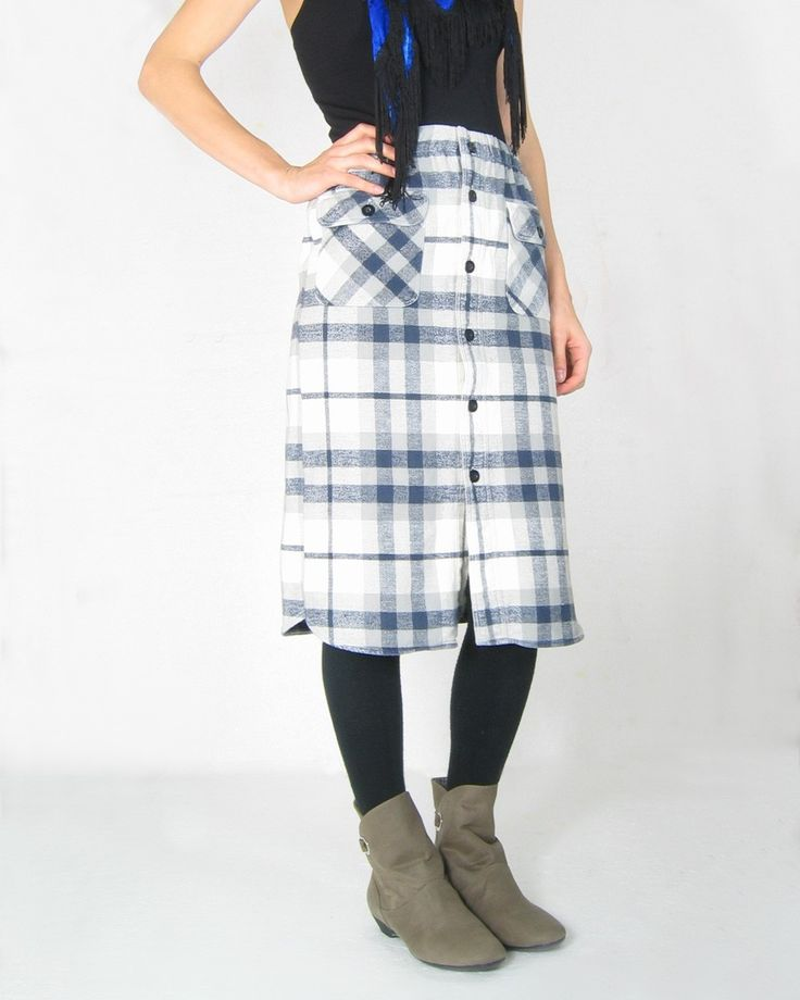 Reluxe up-cycled plaid skirt ($58.90AUD)
