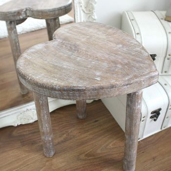a pair of heart shape tables / stools by thelittleboysroom   notonthehighstreet.com