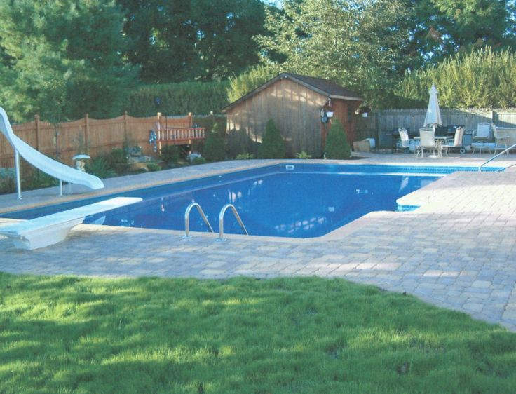 17 best images about backyard pool ideas on pinterest for Pool design with slide
