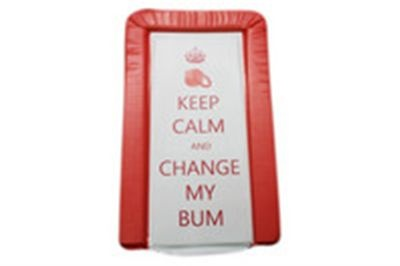 Keep Calm Changing Mat by BabyWise from The Nappy Lady. If you need cloth nappies this is the person to go to.