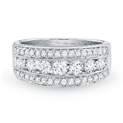 1 ct. tw. Diamond Anniversary Band in 14K Gold available at #HelzbergDiamonds