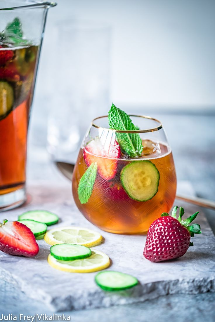 You can hardly find a more British summer drink than PImm's! Deliciously ref…