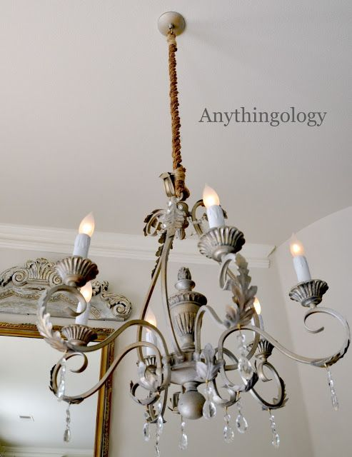DIY rope chandelier cord cover  Shes Crafty in 2019