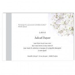 Sakura endeuillés : pour un enfant, un époux, une mère cette carte très sobre se personnalise facilement avec votre texte sur carteland.com #carte remerciements #deces