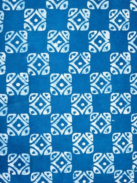 Stoff afrikanisch - Batik Baumwollstoff Blue Squares Afrikanisch Deko - ein Designerstück von TrueFabrics bei DaWanda