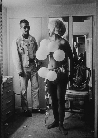 Love this pic. Paul Newman and Joanne Woodward in her dressing room during a break from filming.
