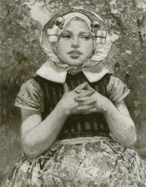 Hans von Bartels Zeeuws meisje, ca. 1906 #Zeeland #ZuidBeveland #protestant