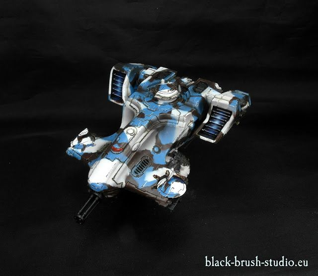 Black Brush Studio - Miniature painting services: Tau Empire: TY7 Devilfish in Winter Camo Scheme