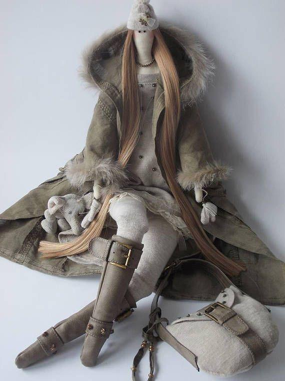 CUERPO de la muñeca Tilda para hacer a mano-hecha a mano