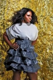 Inspired by this Jibri tiered skirt, PuddingWorx will create the same skirt using upholstery material for the Curvy Girl