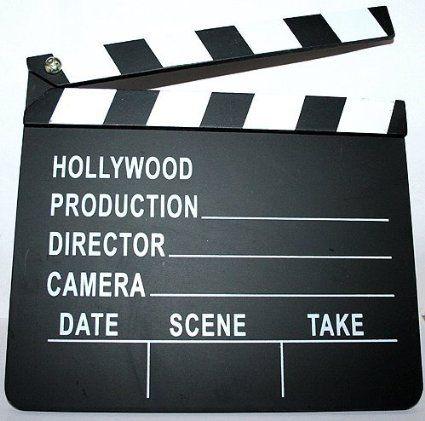 Amazon.com: Hollywood Director's Film Movie Slateboard Clapper: Toys & Games