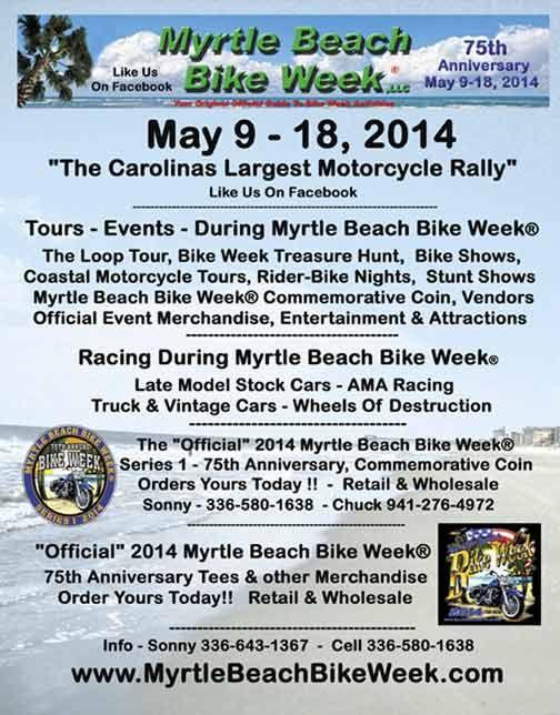 Myrtle Beach Bike Week Spring Rally(R) - 2014 Bike Week Myrtle Beach