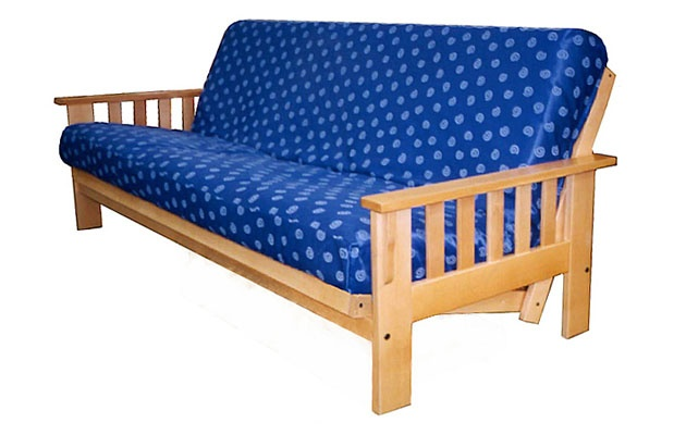 stickley curved mission style futon frame