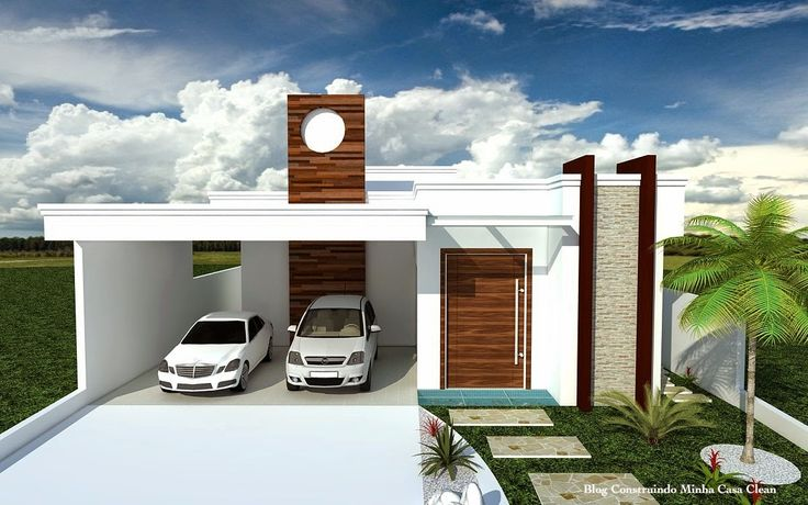 Fachadas de Casas T�rreas Pequenas com Garagem!
