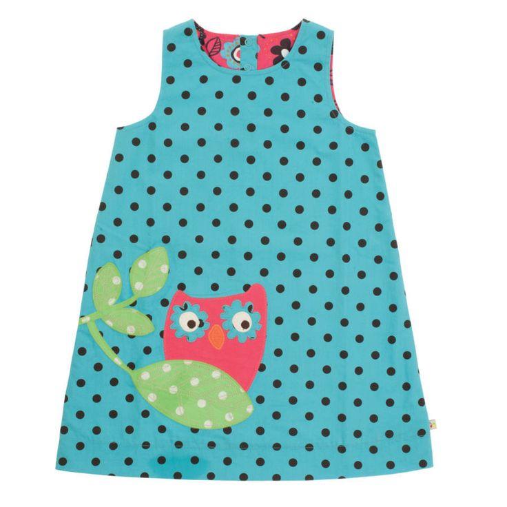 Frugi Παιδικό Αμάνικο Φορεματάκι Διπλής Όψεως – Κουκουβάγια - Sunnyside
