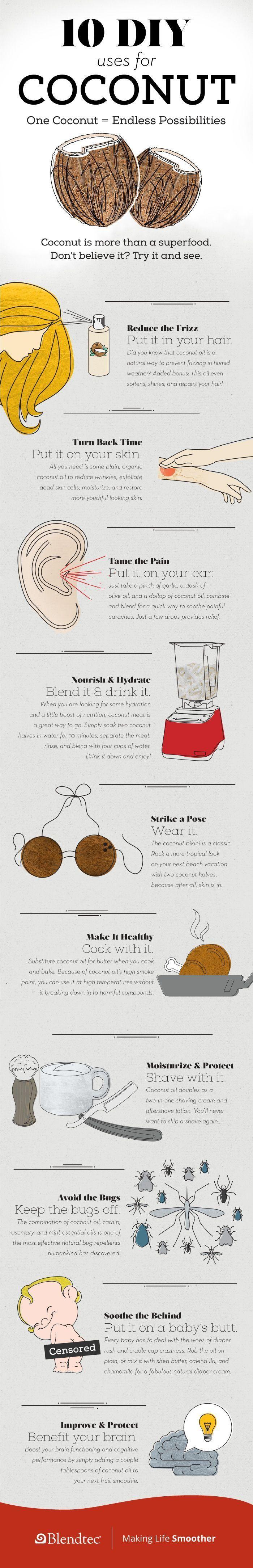 10 ways to utilize coconut!