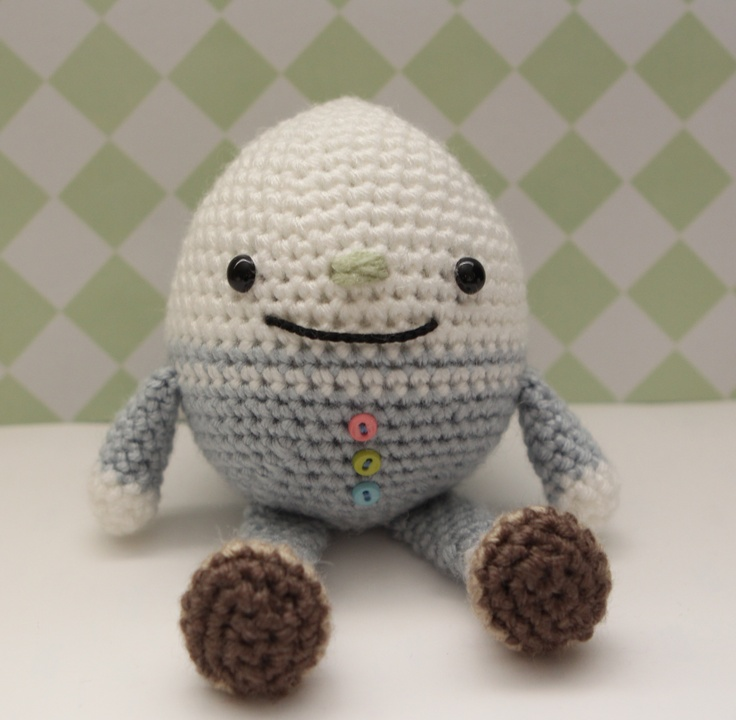 My Humpty Dumpty by Little Muggles crochet doll Pinterest Humpty dumpty...