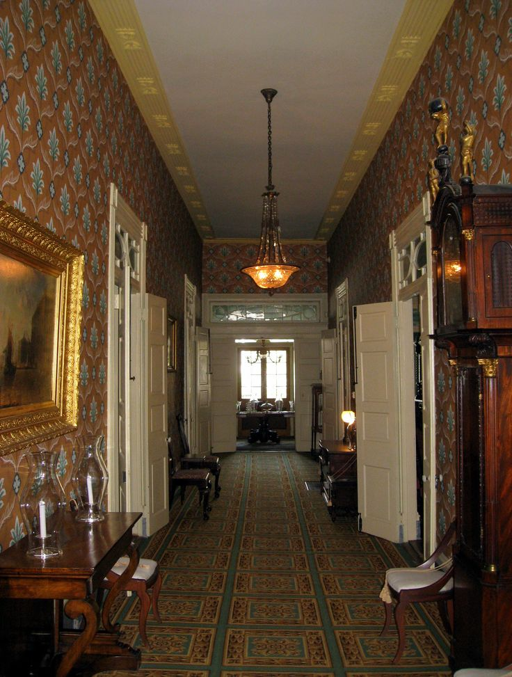 New Orleans French Quarter, Plantation Homes, House Interiors, Hallways,  Entrance, Southern