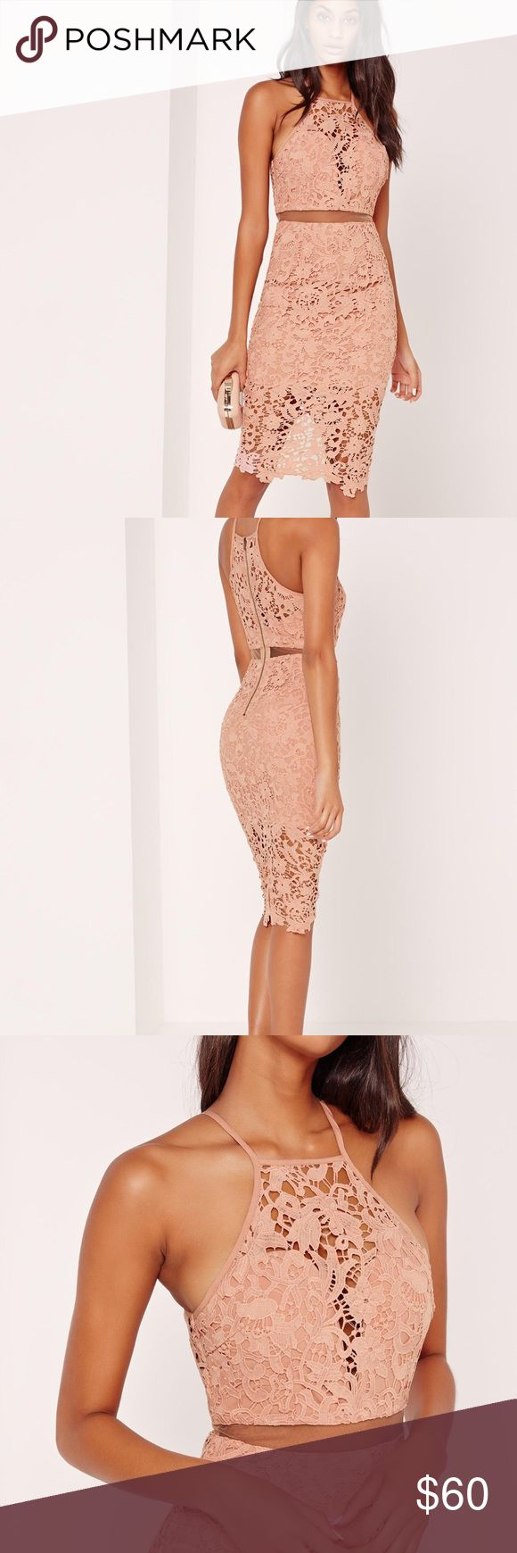 NWT Missguided lace midi dress in nude. Sold out! NWT beautiful and sexy Missguided lace midi dress in nude. Au size 8, us size 2. Sold out! Missguided Dresses Midi