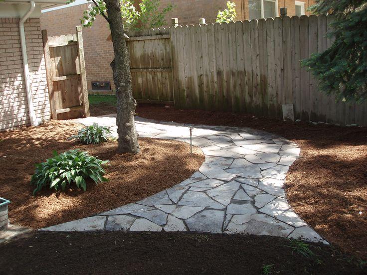 Grassless Backyard Landscaping Ideas Mulch And Compost