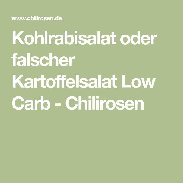 Kohlrabisalat oder falscher Kartoffelsalat Low Carb - Chilirosen