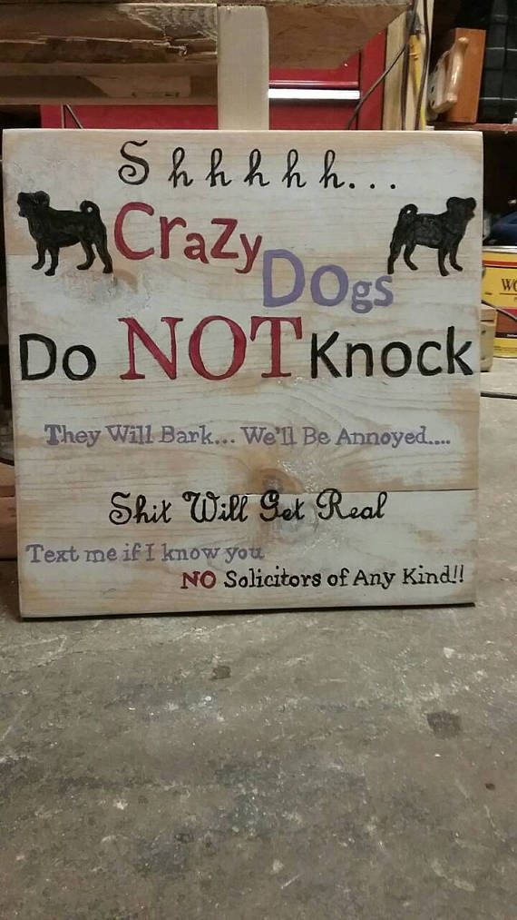 Hey, I found this really awesome Etsy listing at https://www.etsy.com/listing/533656539/shh-crazy-dogs-do-not-knock-they-will