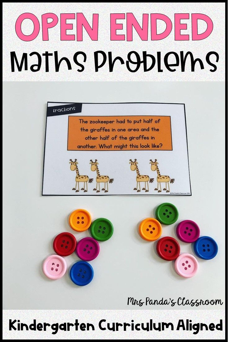 Open Ended Maths Word Problems For Kindergarten Digital And