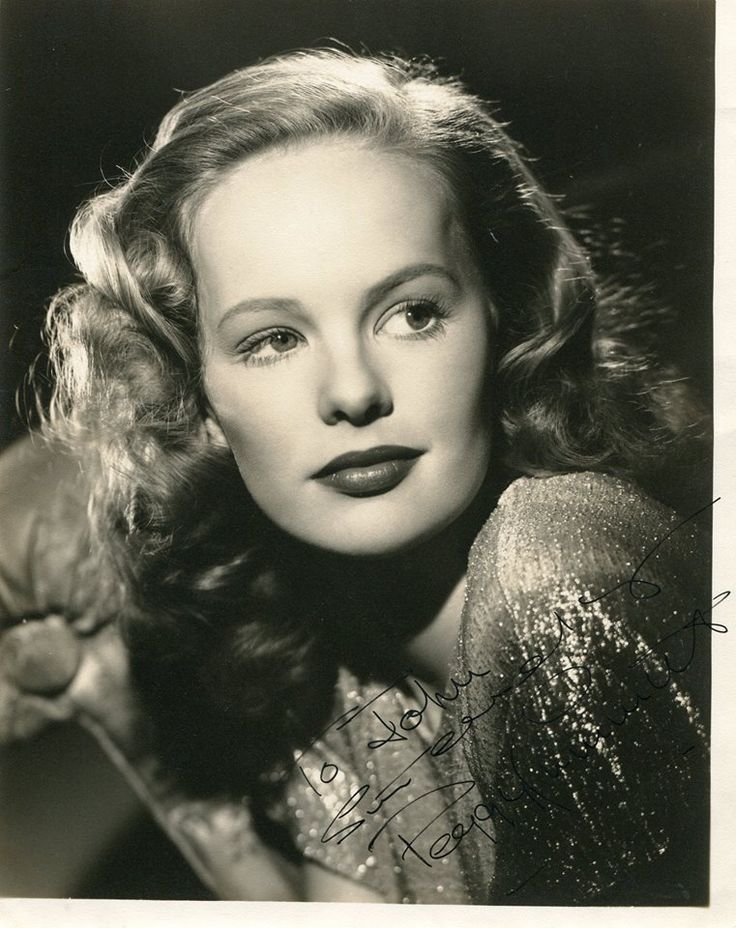 """Peggy Cummins, born Augusta Margaret Dianne Fuller on 12/18/25 in Prestatyn, Denbighshire, Whales. An Irish Actress from 1940 to 1965. She is best known for her performance in """"Gun Crazy"""", 1949, playing a trigger-happy Femme Fatale, who robs banks with her lover. She was married only once with two children!"""