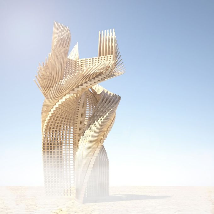 Tangential Dreams is a spectacular, spiraling, 30-foot tower heading to the Black Rock Desert this summer for Burning Man 2016 — but the designs are open source, so anyone in the world can study, change, and improve upon the sculpture.