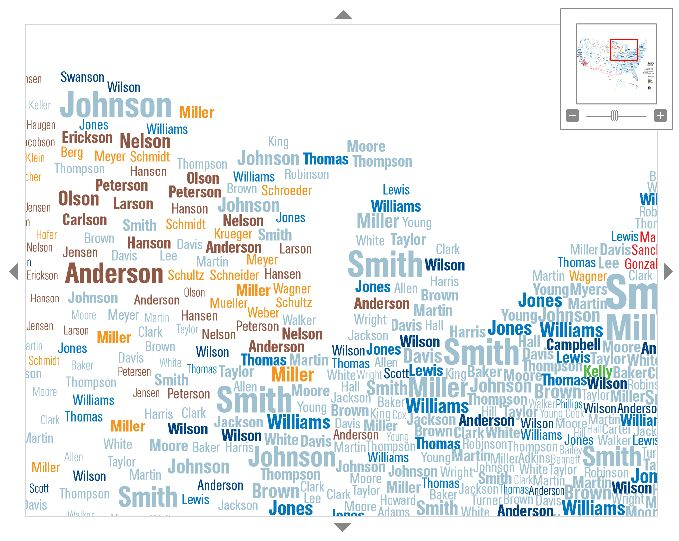 Best GIS And Remote Sensing Images Images On Pinterest Remote - Common surname map us