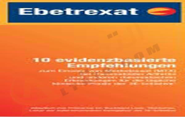 دواء ابيتريكسات Ebetrexat أقراص ت ستخدم في علاج بعض الأورام الخبيثة مثل سرطان الرئة وأيضا يدخل في علاج الكثير من الأمراض الأخرى مثل التهاب المفاصل الذي ي عان