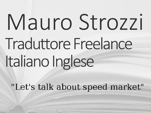 Mauro Strozzi Traduttore Freelance I provide Italian translations for Products and Services Presentations, Advertisement, Textbooks. Fast online skype support. This coupon has the value of 26 Euro, to be deducted from the invoice for any choosen service. Coupons under no circumstances are paid our in