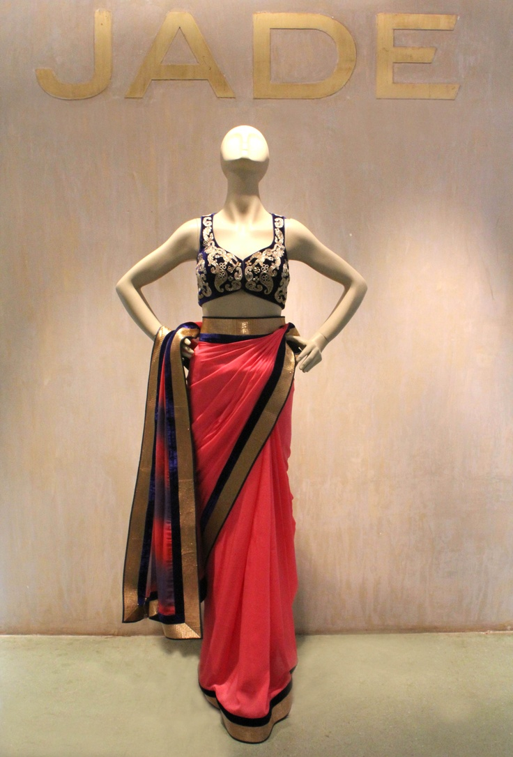 JADE stands for Vibrant Colours and Outstanding Styling!  #JADEbyMK #sari #India #classic #style #colours