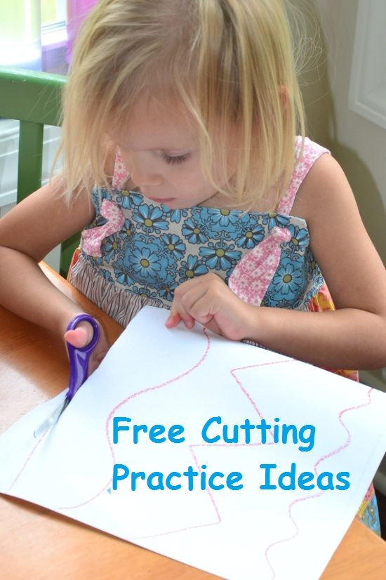 Parents: PLEASE DO THIS WITH YOUR KIDS! Even if you just do the one in this photo, it will make a world of difference! FREE Cutting Practice Ideas for Kids.