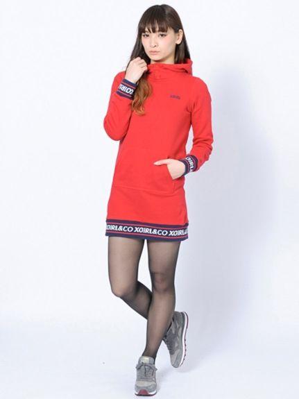 LOGO RIB SWEAT DRESS(カットワンピース) X-girl(エックスガール) calif(カリフ) B's INTERNATIONAL公式通販サイト