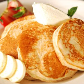 Multigrain Pancakes with Ginger Butter, from ATCO Blue Flame Kitchen.
