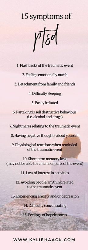 Symptoms of PTSD #SymptomsofAnxietyDisorder
