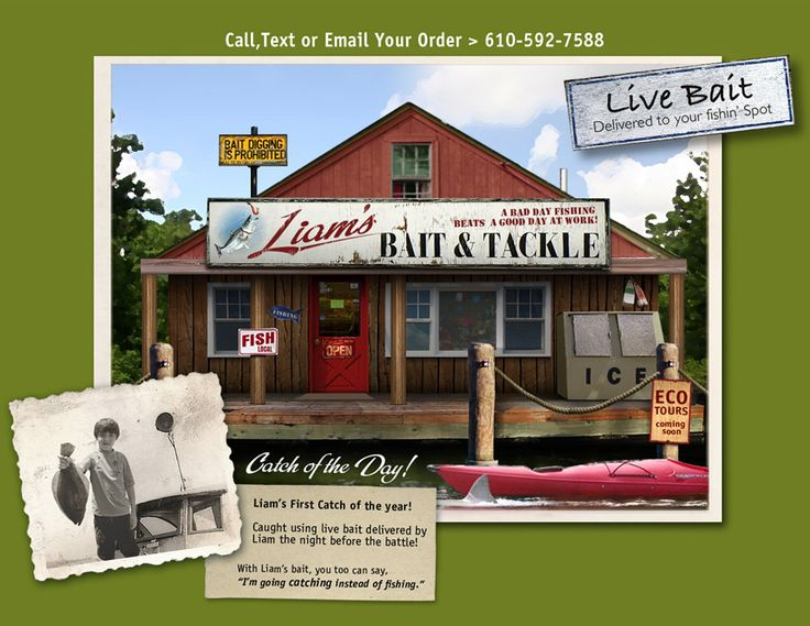 The perfect Bait Shop   Bait and tackle, Tackle shop, Lake ...