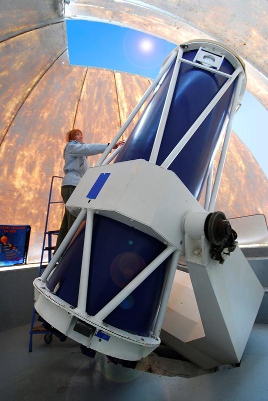 Observatoire des côtes de Meuse à Viéville. L'observatoire possède l'un des plus grands télescopes européens ouvert au public.