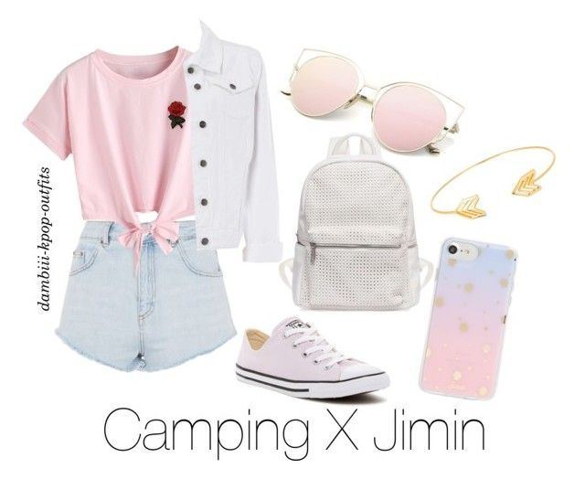 """""""Camping X Jimin"""" by dambiii ❤ liked on Polyvore featuring Topshop, WithChic, Dorothy Perkins, Converse, Sonix, Lord & Taylor, bts and jimin"""