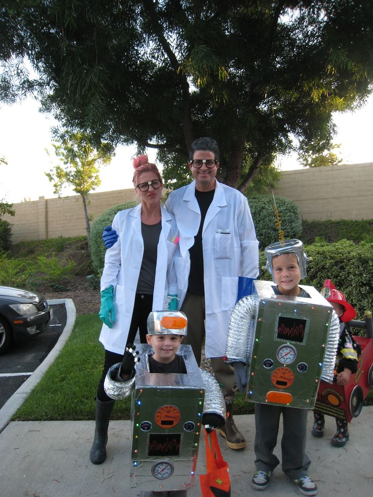 Mad Scientists and robot costume