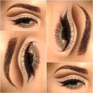 If you don't have a epicanthic eye fold like I do, I would extend the liner in the inner corner of the eyes for a more elongated look :)