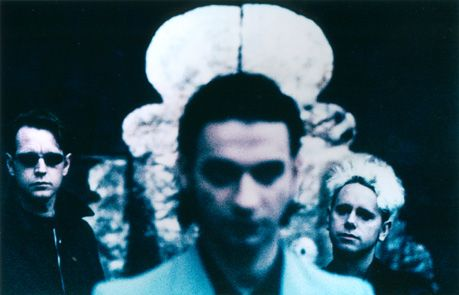 I love the cool colors in this photo of Depeche Mode.