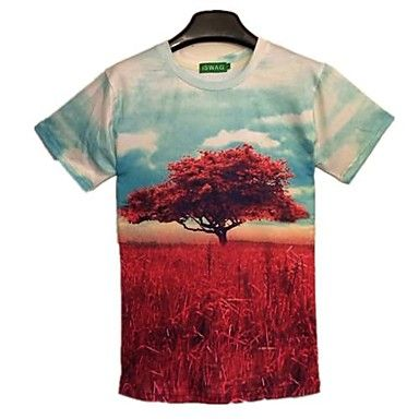 Mens Top Design Short Sleeve Stylish T-Shirt