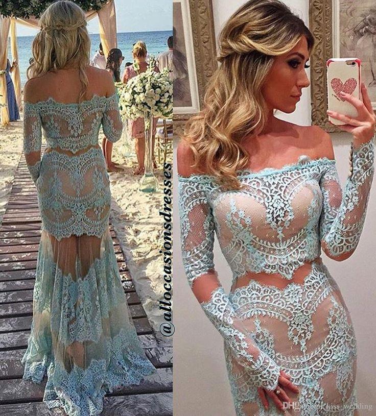 Elegant Two Pieces Lace Arab Wedding Dress Sheath 2017: 1000+ Ideas About Arabic Dress On Pinterest