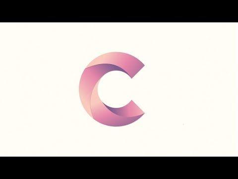 Letter C Typography Logo Design Illustrator Tutorial