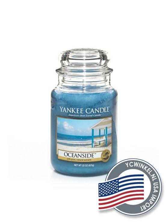 Yankee Candle Oceanside, als een rustige dag op het strand . . . een warme, muskusachtige geur van rust en zeelucht met een vleugje citrus als zon.  Large Jar  De Yankee Large Jar heeft tot wel 150 branduren en worden geleverd in de kenmerkende klassieke glazen pot.  Deze Yankee Candle potten passen in ieder interieur.  Denkt u eraan om de lont kort (3 mm) te houden, hierdoor gaat de Yankee Candle kaars niet walmen en gaat hij langer mee!  USA Import  Dit Yankee Candle Product is…