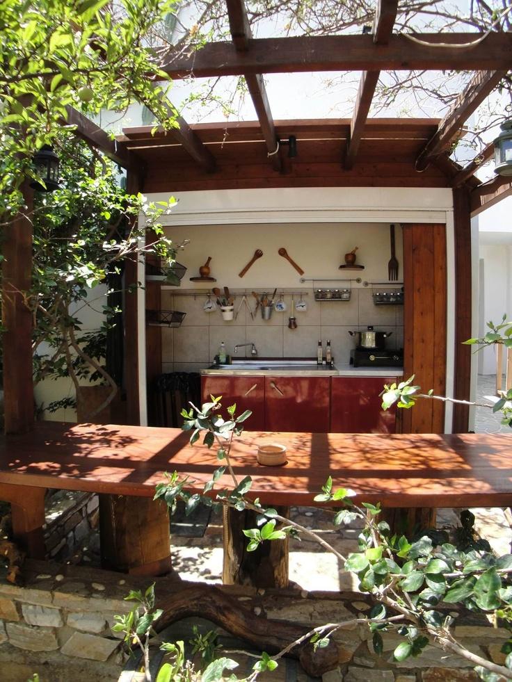 the kitchen in the garden
